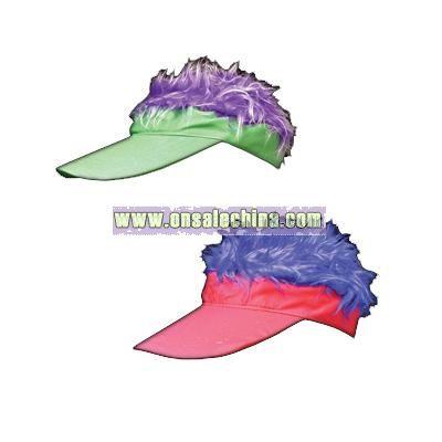 Multicolor Hairy Visors