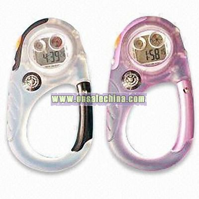 Carabiner Watches with Plastic Case