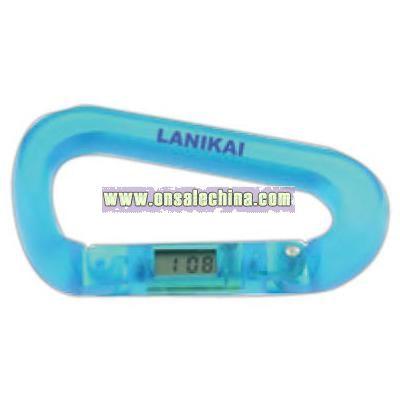 Carabiner LCD clock