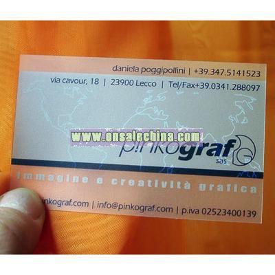 Transparent Name Card