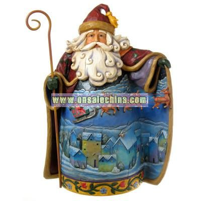 Polyresin Christmas Santa Claus and Figurine