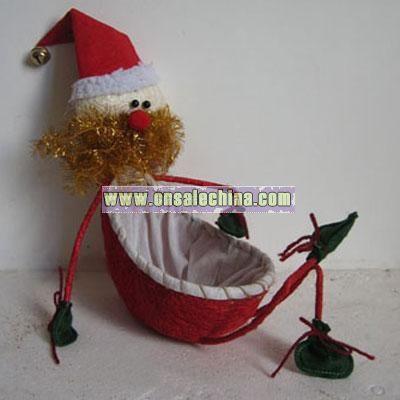 Christmas Decoration -Old Man Basket