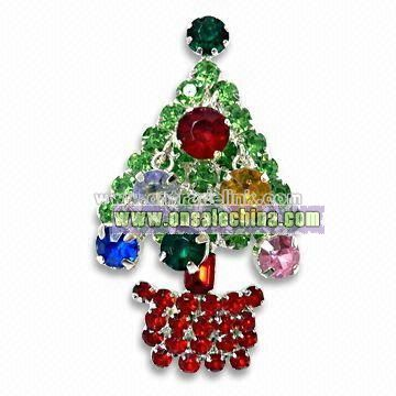 Decorative Christmas Tree Brooch