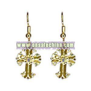 Christmas gold earrings