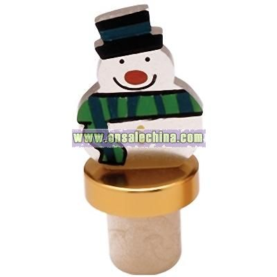 Christmas Bottle Topper (Snowman)