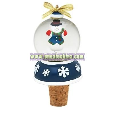 Snow Globe Bottle Topper (Snowman)