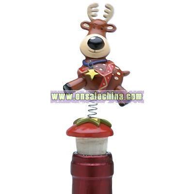 Jiggle Christmas Bottle Toppers (Reindeer)