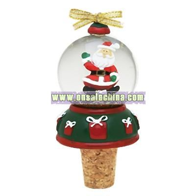 Snow Globe Bottle Topper (Santa)