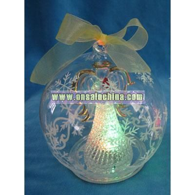Angel W/ Candle Globe