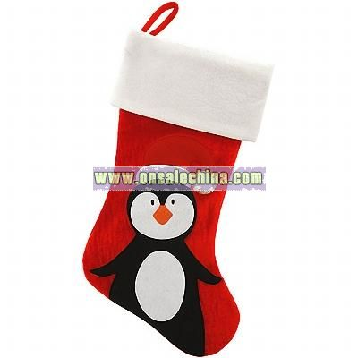 personalized penguin stocking