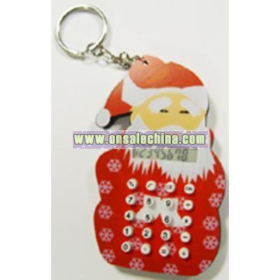 EVA Santa Claus Shape Calculator with Keychain