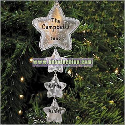 Family Star Dangle Ornament