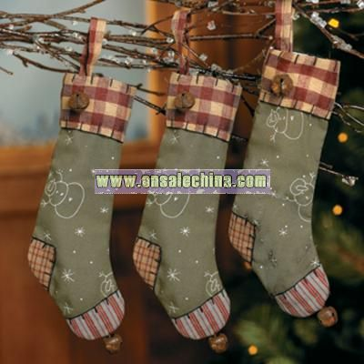 Country Christmas Stocking Ornaments