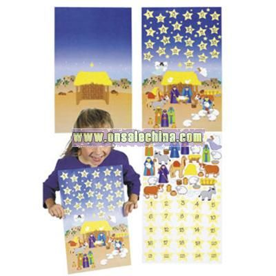 Design Your Own! Giant Advent Calendar Sticker Scenes