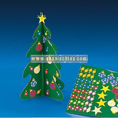 Holiday 3-D Trees And Stickers