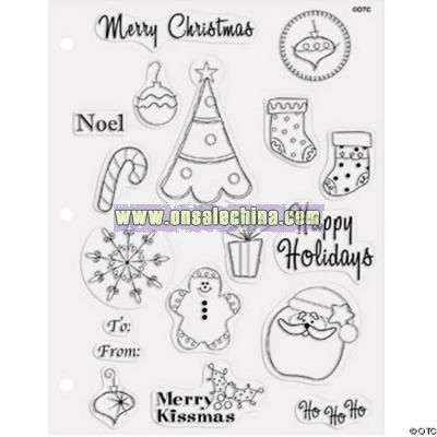 18 Christmas Clear Stamps