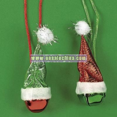 Santa Hat Jingle Bell Necklaces