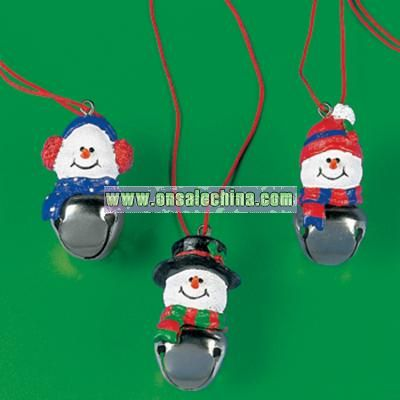 Snowman And Jingle Bell Necklaces