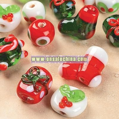 Christmas Lampwork Bead Set