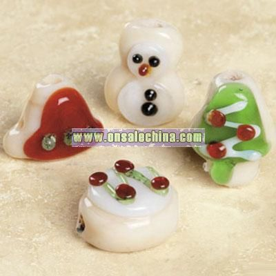 Christmas Sugar Cookie Lampwork Glass Bead Mix