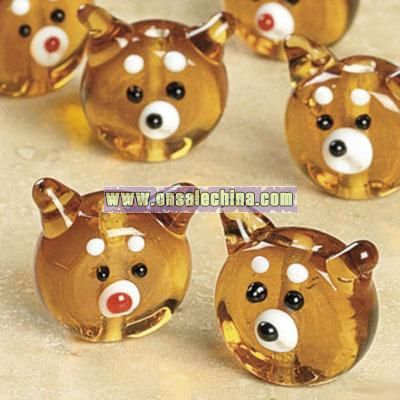 Reindeer Lampwork Glass Beads