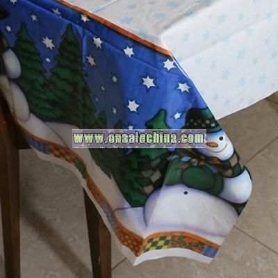 Winter Snowman Table Cover