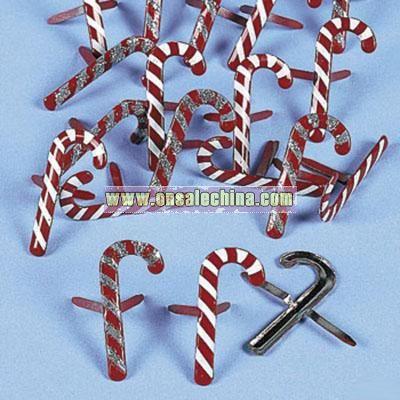 36 Candy Cane Brads