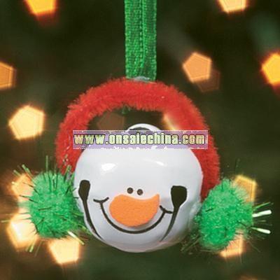 Jingle Bell Snowman Ornament