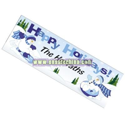 Personalized 5798440008appy Holidays5798440224Blue Snowman Banner