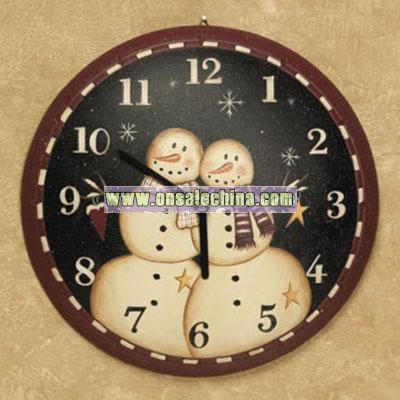 Snow Couple Clock