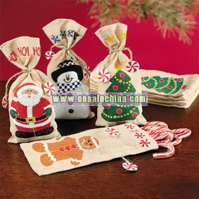 holiday gift bags - Christmas Candy Bags