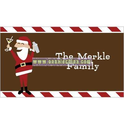 Santa Cheer Stripes Gift Tag