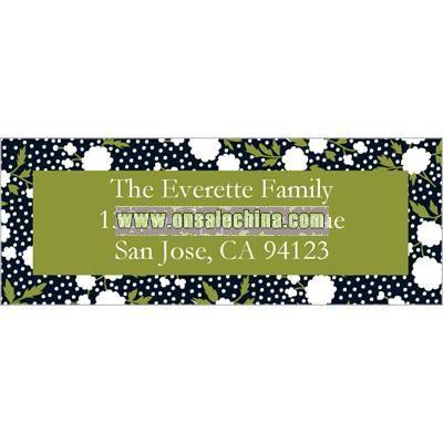 Mod Floral Black Address Label