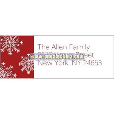 Family Snowfall Red Address Label