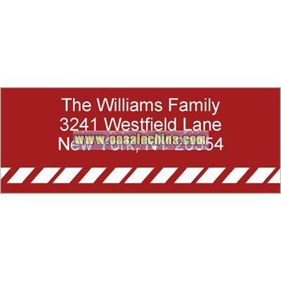 Cane Stripe Red Address Label