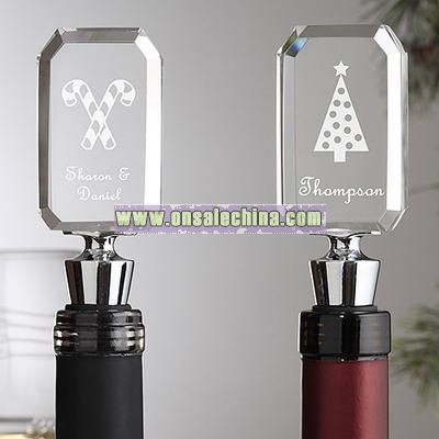 Holiday Cheer Engraved Wine Bottle Stopper