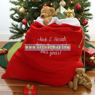 Personalized Santa's Toy Sack
