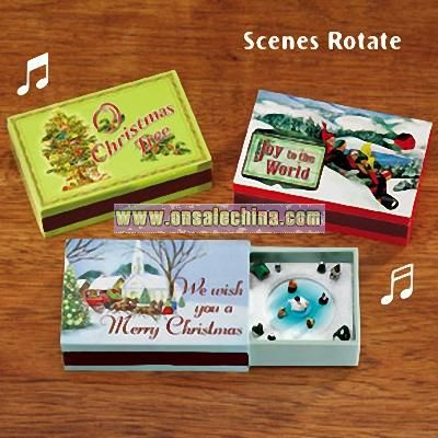 Holiday Matchbox Music Boxes