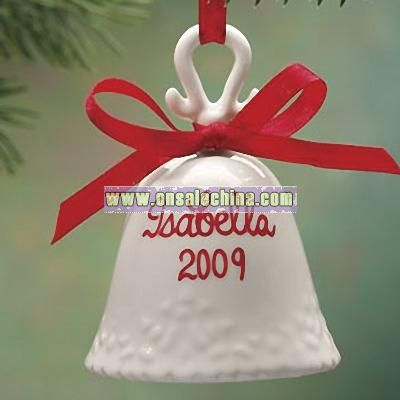 Personalized Porcelain Bell Ornament