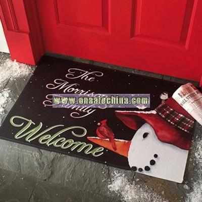 Snowman Cardinal Doormats