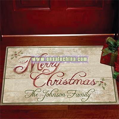 Festive Holiday Doormat-18x27