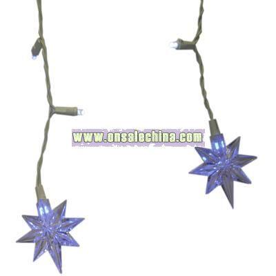 LED Liberty Star Icicle Christmas Light Set - Blue/White