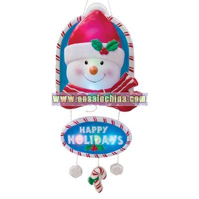 Happy Holidays Snowman Door Hanger