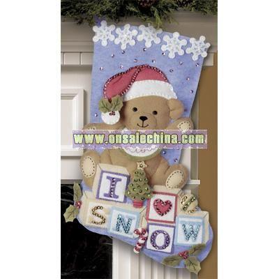 Bucilla Felt Applique Kit - Baby Bear Stocking