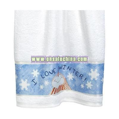 I Love Winter Towel Collection