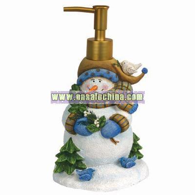 Blue Snowman Lotion Pump