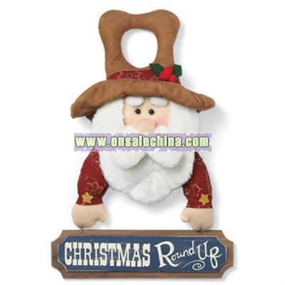 Santa Round Up Door Hanger