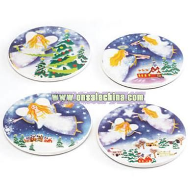 Christmas Angel Coasters