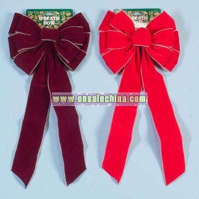 Mini Bead Trimmed Velvet Bow