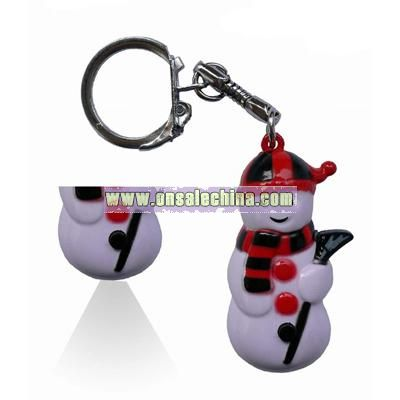 Snowman Keychain With Light - Christmas Gift